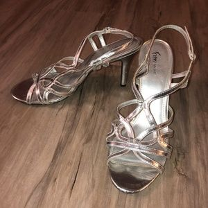 Silver Strappy Heels- Size 11